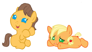 Caramel and Applejack are playing by 3D4D