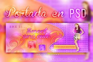 PORTADA PSD: Sweet and Cute~~ by CAMI-CURLES-EDITIONS