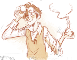 Jekyll + Goggles Doodle by otherwise
