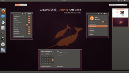 GNOME Shell - Ubuntu Ambiance by half-left