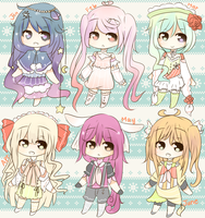 Adoptable BATCH Month Auction 2 [SET 1] CLOSED by KokoMall