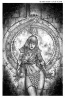 Red Sonja Vultures Circle 4 Cover by wgpencil