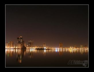 Sharjah at Night II by AEvision
