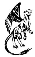 Tribal Gryphon by onlyono