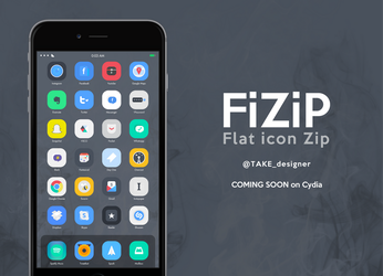 FiZiP is now on Cydia - Flat theme by taaaake