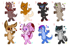 Nightmares Awakened Anthro Adopts - OPEN by TehSpaceSnake