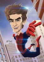The amazing Spider man - Caricature by alemarques21