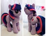 Twilight Sparkle Plush by buttsnstuff