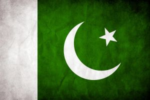 Pakistan Grungy Flag by think0
