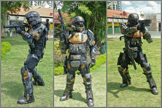 HALO ODST 'Breaker', 405th Singapore detachment by BazSg