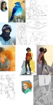 Sketchdump by TameikiShiro