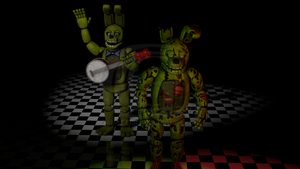 Cinema4D Springtrap and Spring Bonnie!! by GaboCOart