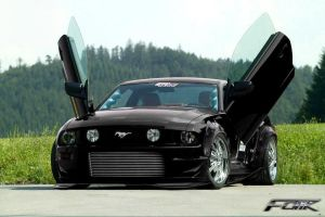 Ford Mustang Black Angel by Faik05