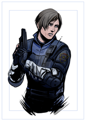 Resident evil remake- Leon by WinterSpec