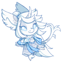 Doodle Chibi: Moon Princess by SpikedTurtle