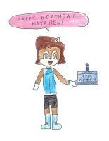 Sally Acorn - Happy Birthday, Mayahen by dth1971