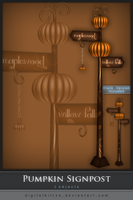 Pumpkin Signpost by ObsessiveDezign