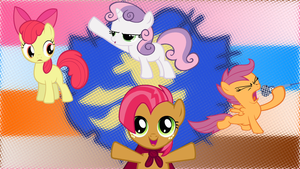 Cutie Mark Crusaders Back Ground (1366 x 768) by SkulkingShadows