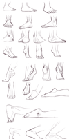 Feet - Foot Study by Shattered-Earth