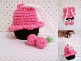 Crochet Cupcake Berry Bag by milliemouse579