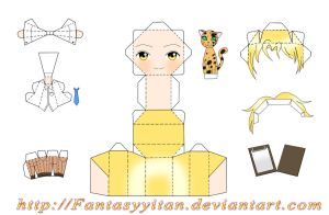 AMOUR SUCRE: Chibi Nathaniel Papercraft by FantasyYitan