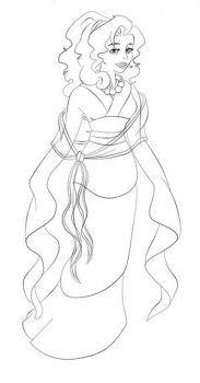 Lineart from MellasFenixxes4 by colourme-disney-club