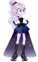 Legend of everfree ocs- Crystal gala Rainbow Pink by GihhBloonde