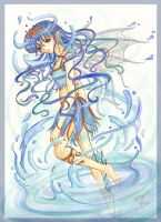 Water Nymph for Michi by caleyndar