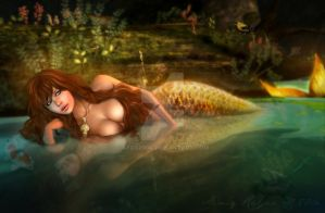 The Golden Mermaid by afox2004