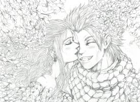 NaLu- Under the Rainbow Blossoms by Inubaki