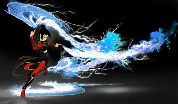 Azula Blue Lightning and Fire by RussianTsarina