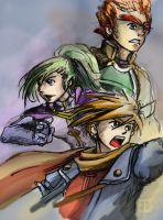 Golden Sun: Trio by chanimated