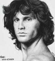 Jim Morrison with ugly hair by cuteblackkat
