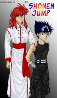 Kurama and Hiei - 02 by BuckTheRules