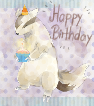 Birthday Linoone by Joltik92