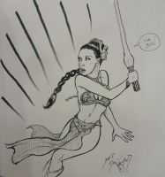 Con Sketch - Leia by DocRedfield