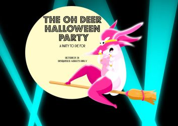 Oh deer Halloween party flyer by xtrvgnz
