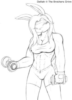 Delilah From SMT working out by mtzart