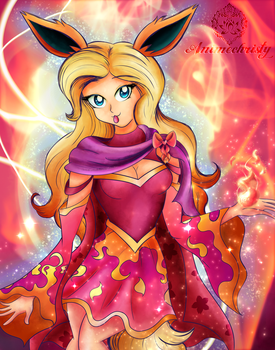 Burning Love Flareon by Animechristy