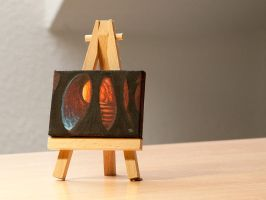 The Caves of Moria mini painting by RUGIDOart