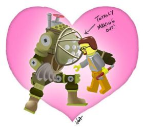 Tribute: Nerds Making Out LEGO by wwatrach