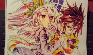 ''Blank''Sora and Shiro by greataiden1