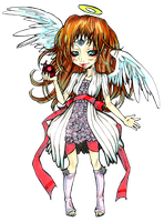 winter angel chibi by Papilio-Machaon