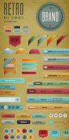 Retro Web Elements - Bright Pack by gojol23