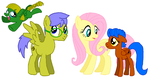 Fluttershy x Humblebee Family by DarthGoldstar710