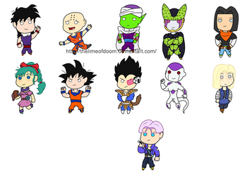 Dragon Ball Z chibis by thelimeofdoom