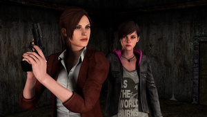 Claire Redfield and Moira Burton by Mister-Valentine