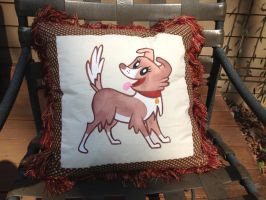 Winona Throw Pillow Front by reluctantbrony