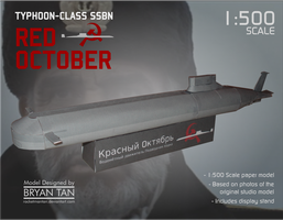 Red October Submarine Paper Model by RocketmanTan