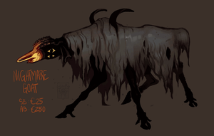 Nightmare Goat AUCTION by LiLaiRa